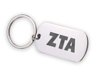 Zeta Tau Alpha Letters Stainless Keychain