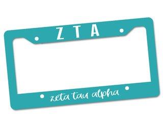 Zeta Tau Alpha Custom License Plate Frame