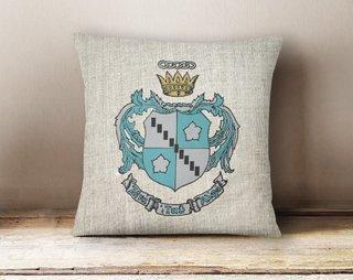 Zeta Tau Alpha Linen Crest - Shield Pillow
