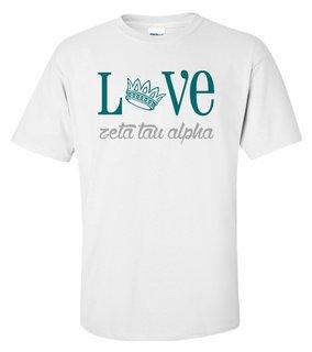 Zeta Tau Alpha Love Mascot T-Shirt
