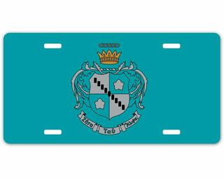 Zeta Tau Alpha Crest - Shield License Plate