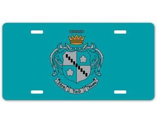Zeta Tau Alpha Crest - Shield License Plate