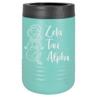 Zeta Tau Alpha Mermaid Stainless Steel Beverage Holder
