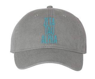 Zeta Tau Alpha Mod Comfort Colors Pigment Dyed Baseball Cap