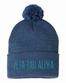 Zeta Tau Alpha Mod Pom Pom Beanie
