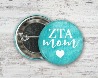 Zeta Tau Alpha Mom Button