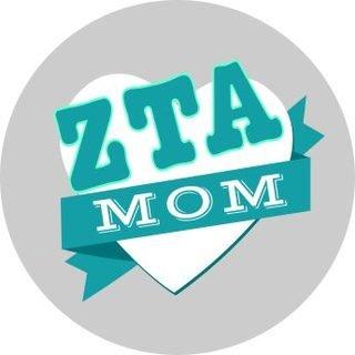 Zeta Tau Alpha Mom Round Decals