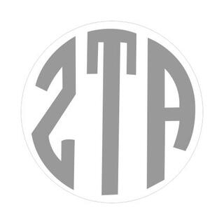 Zeta Tau Alpha Monogram Decal