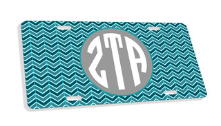 Zeta Tau Alpha Monogram License Plate