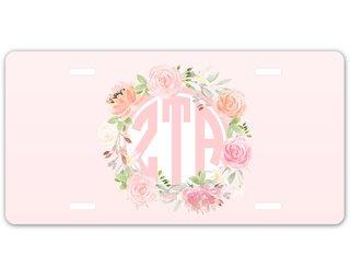 Zeta Tau Alpha Monogram License Plate
