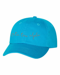 Zeta Tau Alpha Smiling Script Greek Hat