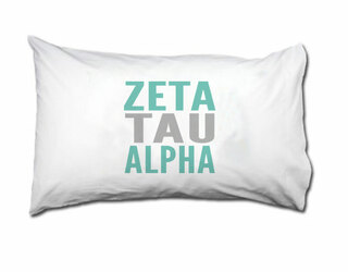 Zeta Tau Alpha Name Stack Pillow Cover