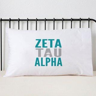 Zeta Tau Alpha Name Stack Pillow Cover