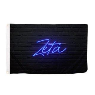 Zeta Tau Alpha Neon Flag