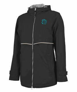 Zeta Tau Alpha New Englander Circle Monogram Rain Coat