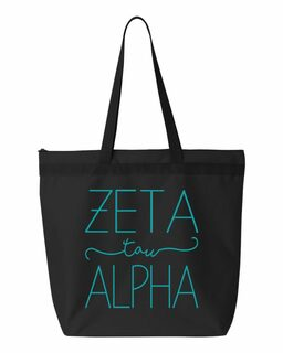 Zeta Tau Alpha New Handwriting Tote Bag