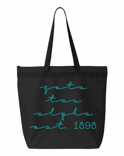 Zeta Tau Alpha New Script Established Tote Bag