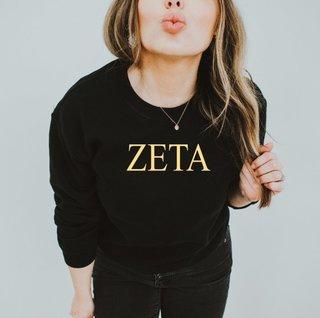 Zeta Tau Alpha Nickname Crew Sweatshirt