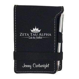 Zeta Tau Alpha Mascot Notepad With Pen