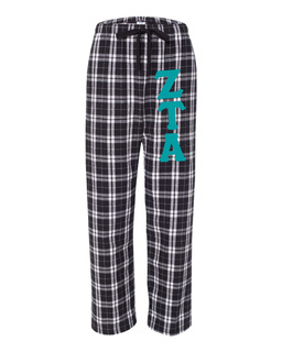 Zeta Tau Alpha Pajamas -  Flannel Plaid Pant