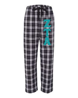 Zeta Tau Alpha Pajamas -  Flannel Plaid Pant