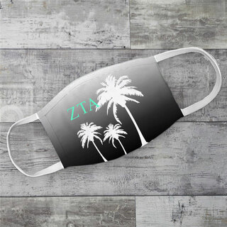Zeta Tau Alpha Palm Trees Face Mask