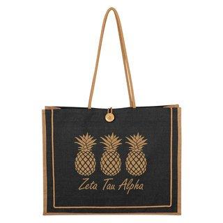 Zeta Tau Alpha Paradise Jute Bag