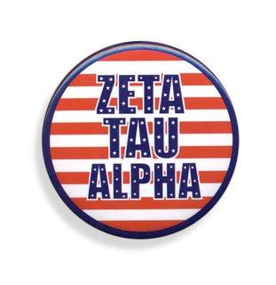 Zeta Tau Alpha Patriotic USA Button