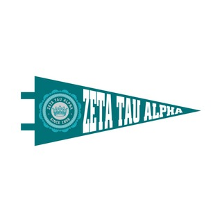 "Zeta Tau Alpha Pennant Decal 4"" Wide"