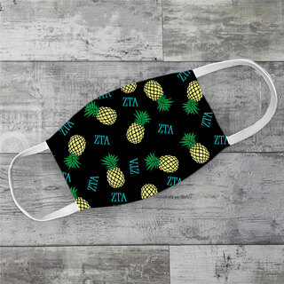 Zeta Tau Alpha Pineapples Face Mask