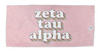 Zeta Tau Alpha Plush Retro Beach Towel