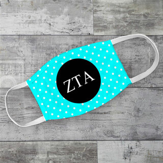 Zeta Tau Alpha Polka Dots Face Mask