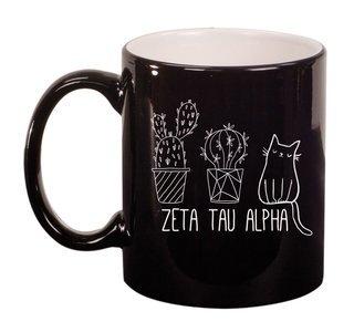 Zeta Tau Alpha Purrrfect Sorority Coffee Mug