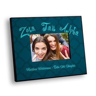 Zeta Tau Alpha Quatrefoil Picture Frame