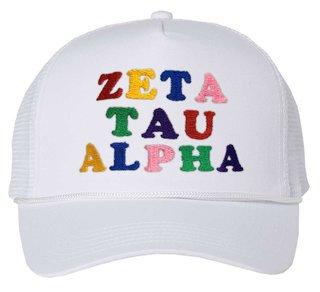 Zeta Tau Alpha Rainbow Trucker Hat