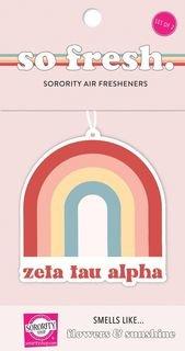 Zeta Tau Alpha Rainbow Retro Air Freshener