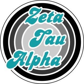Zeta Tau Alpha Retro Round Decals