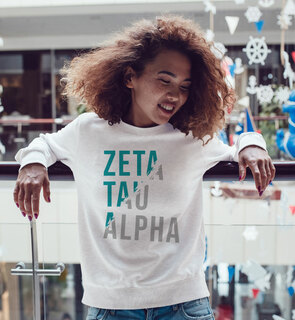 Zeta Tau Alpha Ripped Favorite Crewneck