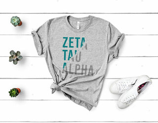 Zeta Tau Alpha Ripped Favorite T-Shirt