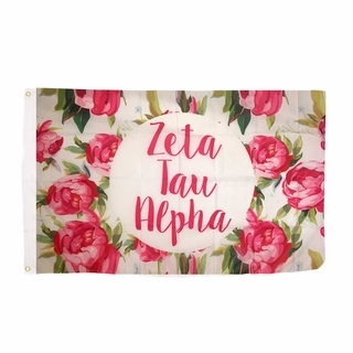 Zeta Tau Alpha Rose Flag