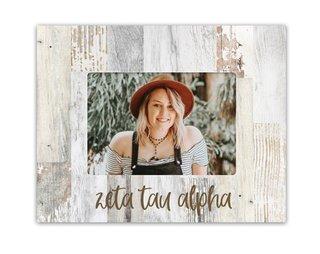 Zeta Tau Alpha Rustic Picture Frame