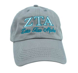 Zeta Tau Alpha Script Cap
