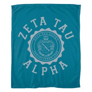Zeta Tau Alpha Seal Fleece Blanket