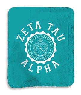 Zeta Tau Alpha Seal Sherpa Lap Blanket