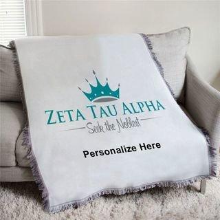 Zeta Tau Alpha Seek The Noblest Afghan Blanket Throw