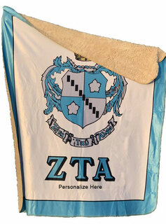Zeta Tau Alpha Sherpa Lap Blanket