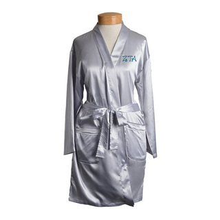 Zeta Tau Alpha Short Satin Robe