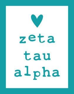 Zeta Tau Alpha Simple Heart Sticker