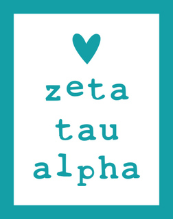 Zeta Tau Alpha Simple Heart Sticker