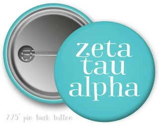 Zeta Tau Alpha Simple Text Button